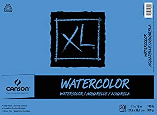 Canson 7022446 XL Series Watercolor Textured Paper Pad for Paint 140 Pound, 11 x 15 Inch, 30 Sheets (B0049UXGD0) | Amazon price tracker / tracking, Amazon price history charts, Amazon price watches, Amazon price drop alerts