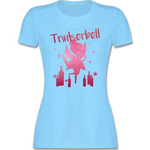 Karneval & Fasching - Trinkerbell mit Flaschen - XXL - Hellblau - Spruch Shirt Damen - L191 - Tailliertes Tshirt für Damen und Frauen T-Shirt