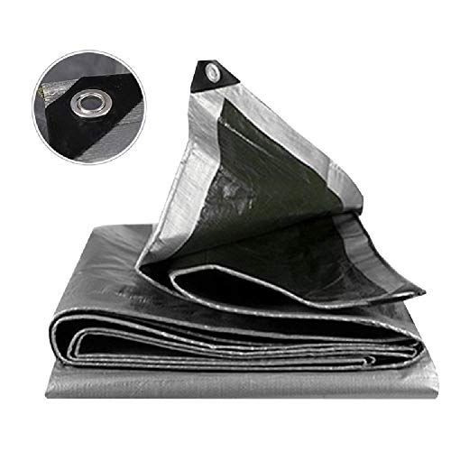 MFLASMF Large Heavy Duty Tarpaulin Home Roof Sun Shades Cloth, Heavy Duty with Grommets, Tarps Waterproof Covers Camping Tent Canopy, Tarpaulin Waterproof Heavy Duty,3Mx3M