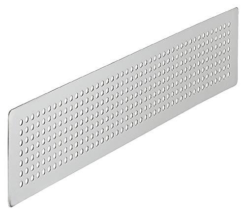 Abluftgitter Lüftungsgitter Edelstahl gebürstet Stegblech Tür-Gitter zum Aufschrauben | 500 x 100 mm | Abluftgitter Edelstahl rostfrei | 1 Stück - Belüftungsgitter rechteckig für Möbel - Wand & Türen
