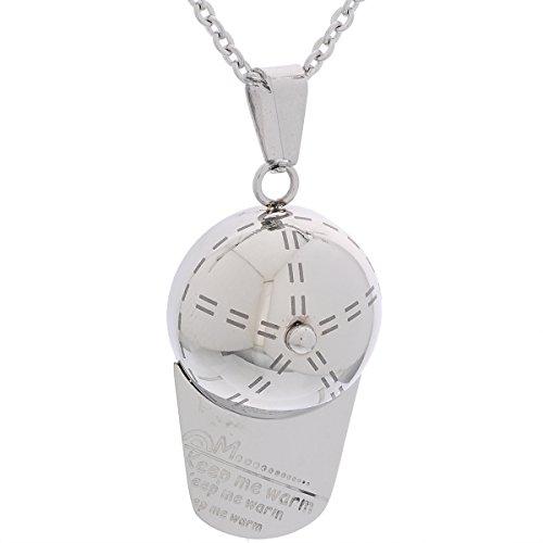 VALYRIA Jewelry Unisex Stainless Steel 'keep me warm' Baseball Hat Pendant...
