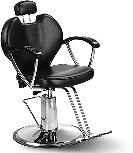 LIZHIQIANGdiaodeng Salon Barber Chair Classic Hydraulische Reclining Swivel Frisierstuhl AdjustableBeauty Friseur Haircut Stuhl