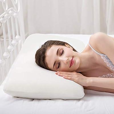 ✅Espuma viscoelástica premium: la almohada ortopédica cervical para cama sostiene la cabeza, el cuello y los hombros mientras duerme y relaja los músculos del cuello. Por la mañana puedes despertarte relajado y sin tensiones. ✅ Tamaño de almohada est...