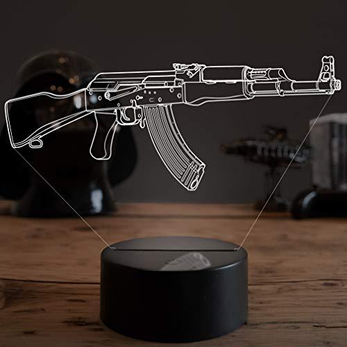 3D LED Deko Lampe CSGO AK-47 - Elbeffekt - Gaming Dekoration - Nerd Gamer Zocker Geschenk