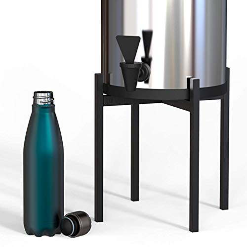 AUBURY & CO Multifunction Stand - Black, Metal, Patented Design - Multipurpose for Water Filters, Speakers, Dog Bowls and Indoor or Outdoor Displays - Medium 10