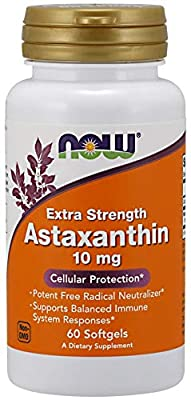Now Foods Astaxanthin, 10mg - 60 softgels, 0.074 kg