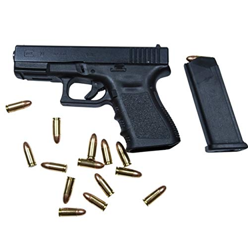 Print Title: Glock Model 19 handgun with 9mm ammunition. Print Type: Photo Print Paper Size: 43.69 x 29.21 cm Brand new and ready for Framing Artist: Terry Moore/Stocktrek Images