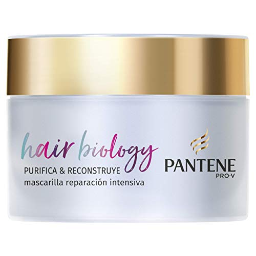 Pantene Pro-V Hair Biology Purifica & Reconstruye Mascarilla 160 ml, Para Raíces Grasas Y Puntas Secas