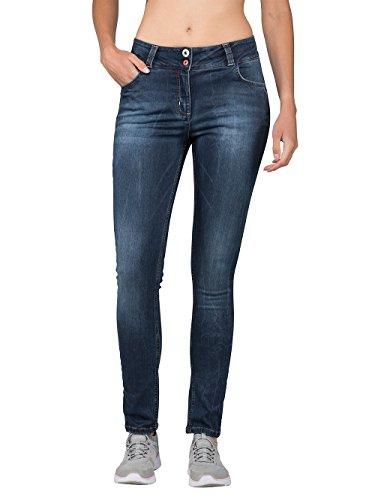 Chillaz Damen Denim Legging Hose, Indigo, 34