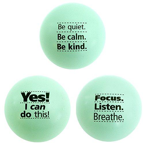 Teach Peach Assorted Motivational Stress Balls, Fun Fidget Toys for Kids, Teenagers, and Adults