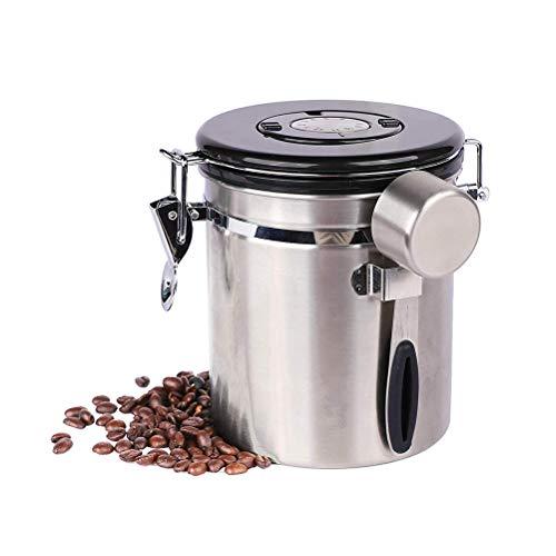 WINBST Caja de café Caja de café hermética de Acero Inoxidable El...