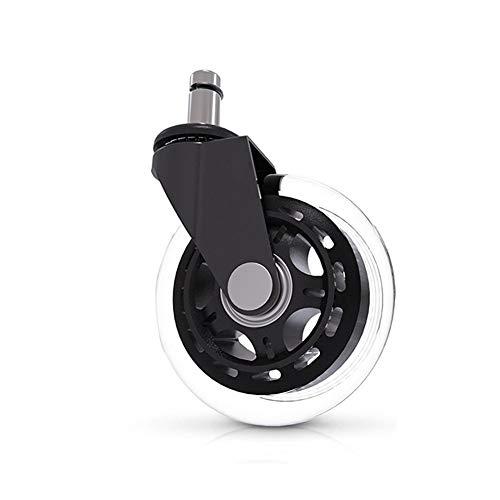Basic Cellphone Cases CHENZHANMAOYI 3 Pouces Universal Mute Wheel Chaise de Bureau Caster Remplacement 60kg pivotant en Caoutchouc Souple Safe Rouleau