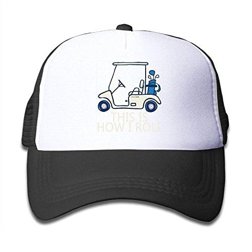 Elsaone Dieses ist, wie ich Golfmobil-Jugend rolle Netzmütze Jungen-Mädchen-Baseball-Fernlastfahrer-Kappen