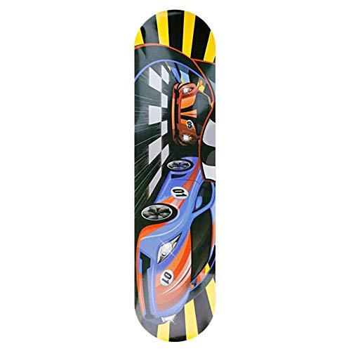 GUOCU Skateboard Komplett Board 80 * 20 * 10CM Holzboard aus 8 Schichten kanadischem Ahornholz, 85A Rollen für Anfänger Kinder und Erwachsene,Farbe 7,80 * 20 * 10cm