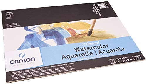 Montval Acid-Free Cold Press Watercolor Paper, 140 lb, 18 X 24 in, Natural White