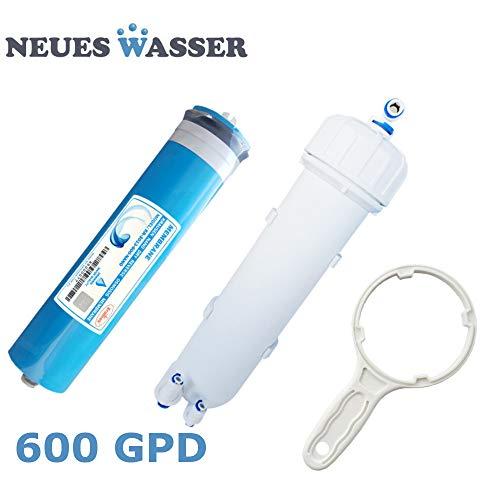 Neues Wasser Group Membrane 600 GPD Umkehrosmose-Membrane 3013-600 inkl. Membran-Gehäuse + Schlüssel für Osmoseanlagen Umkehrosmose