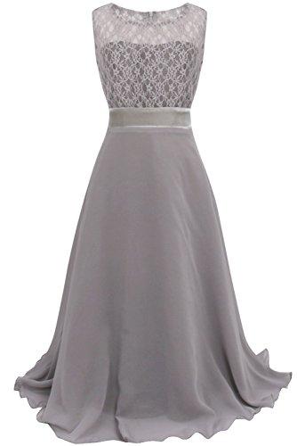 YiZYiF Festliches Mädchenkleid Lange Brautjungfern Kleider Hochzeit Chiffon Gr. 104 116 128 134 140...