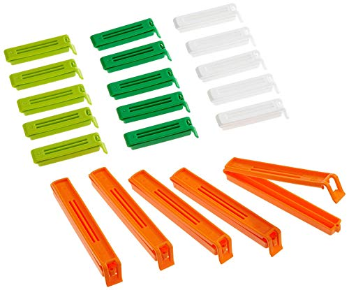 Kitchencraft Clips Cierre Bolsas, Multicolor, 4x14.6x24 cm,