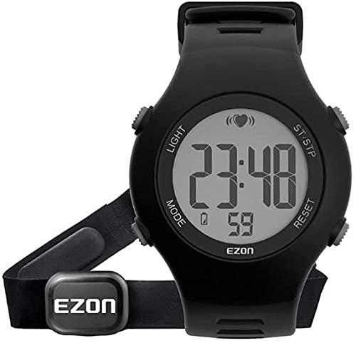 Monitor de ritmo cardíaco reloj deportivo impermeable cronómetro Timbre cada hora Monitoreo de frecuencia cardíaca de mujeres embarazadas para ancianos.