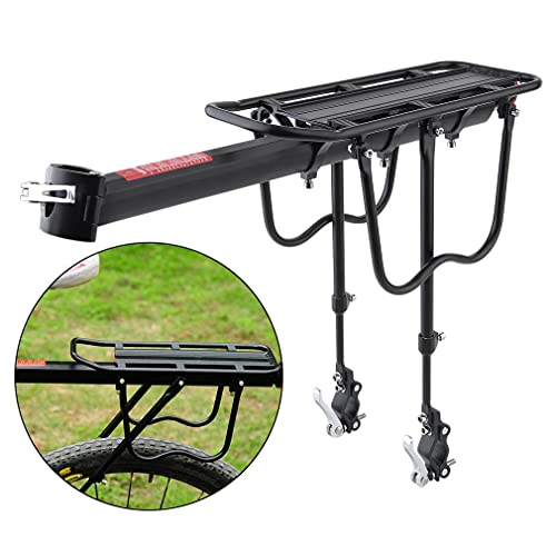 AdventGo Universal Adult Bike Cargo Rack – Lightweight Mountain Bike Rack for Back of Bike with a Quick-Connect Design That Saves Time - Aluminum Alloy Bicycle Rack with 115-lb. Capacity