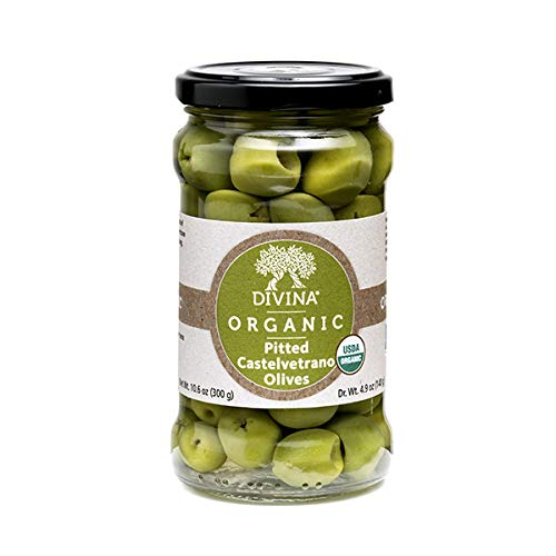 Divina, Olives Castelvetrano Pitted Organic, 10.6 Ounce