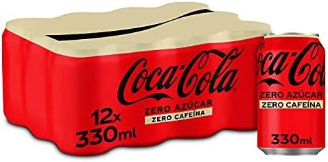 Coca-Cola Zero Azúcar Zero cafeína - Refresco de cola sin azúcar, sin calorías, sin cafeína - Pack 1