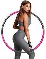 Hoelahoep-fitness, Sinocare gewogen hula hoop afneembare fitness-hoepel met schuim, slimme hoelahoep voor volwassenen met instelbaar gewicht, geschikt voor volwassen fitness en gewichtsverlies.