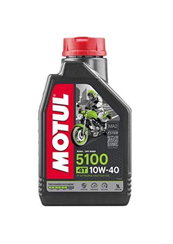 MOTUL 104066 Motorrad-Motoröl, 4 Takt, 10 W/40 (Teilsynth.), Anzahl 1