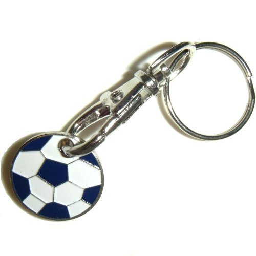 2 x Football Trolley Coin Trolley Keyring for Shopping by Trolley Coins