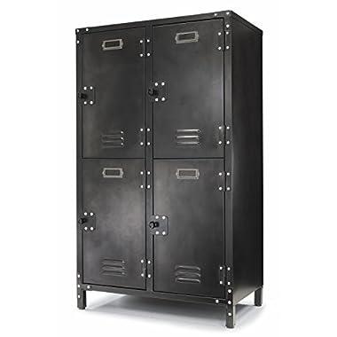 Allspace 4 Door Steel Locker with Dark Weathered Finish - 240003