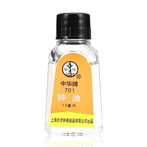 Orologi Olio lubrificante, 100% olio sintetico per lubrificare gli orologi del tuo nonno Riparazione Manutenzione Attrezzi Ripristino e allentamenti Movimenti per orologi Liberty Oil