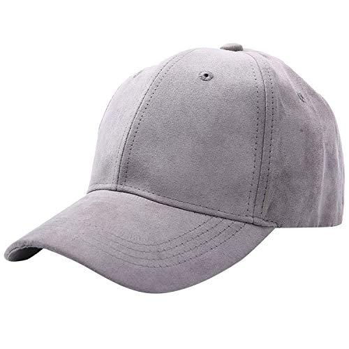UMIPUBO Wildleder Baseballmütze Baseball Cap Outdoor Cap Unisex Basecap Sport Mütze Verstellbar Mütze Lässig Baseballkappe