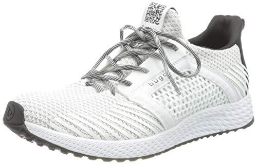 bugatti Herren 342623626950-2012 Slipper Sneaker , white / light grey , 42 EU