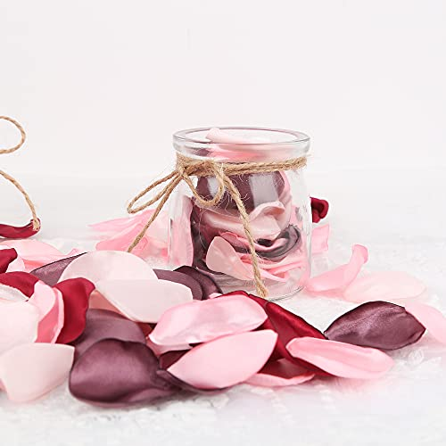 Künstliche Rosenblätter, 200 Stück Blumenblätter Künstliche Seidenrosenblätter Romantische Dekoration für Hochzeiten, Party, Zuhause, Valentinstag, Babyparty