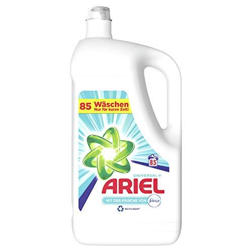 Ariel Waschmittel Flüssig, Flüssigwaschmittel Universal, Febreze Frische, 85 Waschladungen (2 x 4.675 L)
