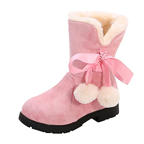 Plus Samt Schneestiefel Baby Winterschuhe Jungen Kurze Stiefel Mädchen Snow Boots Plüsch Prinzessin Thermostiefel Winter Warm Kinderschuhe Rutschfest Knöchel Schuhe