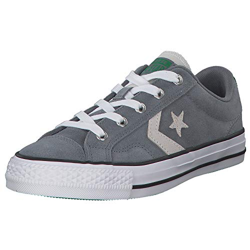 Converse Unisex-Erwachsene Star Player Ox Fitnessschuhe, Mehrfarbig (Cool Grey/White/Green 039), 50 EU