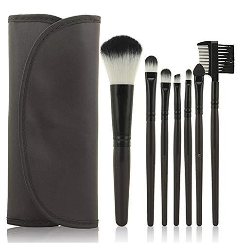 REGAL-HPQ Pinceaux de Maquillage Professionnel Brush Sets antibactériennes Cheveux synthétiques/Fibres artificielles Pinceau Maquillage Pinceaux pinceaux de Maquillage,Black/7pcs