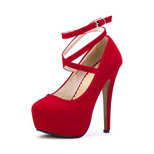 Ochenta - Zapato de tacón alto con plataforma y correa para el tobillo, para mujer, color, talla 43 EU