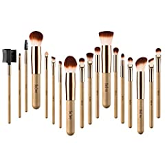 18Pcs wooden makeup brush set is a SOLVE special. We've perfected every brush to ensure quality,precision,and comfort. Wooden style handles and Rose gold metal tubes - Wooden style and durable wooden handles are Primitive ecological and special, with...
