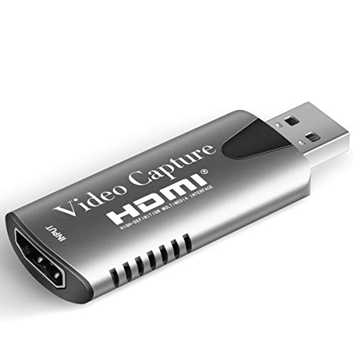 Xosido Audio Video Capture Cards HDMI Video Capture HDMI to USB Full HD 1080p USB 2.0 Box Compatible with Windows Linux Mac OS System YouTube OBS VLC Amcap for PS4/Xbox/DSLR