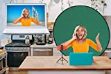 New Model Green Screen Background for a video calls fixed on a chair, round, collapsible, portable, pop-up, 56 inch, UK stock