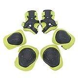 Unisex Protect Bike Gel Rodilleras y Coderas para Niños Deportes Protector de Muñequeras Set para Ciclismo Skateboarding Resistente y ultraligero (Color: Verde)