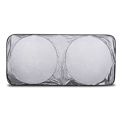 CWEN Burbuja de Doble Cara Frontal/Sol Bloque Plegable Parabrisas de Parabrisas Cubierta de Visera Bloque Posterior Delantero Sol 150 * 70 cm