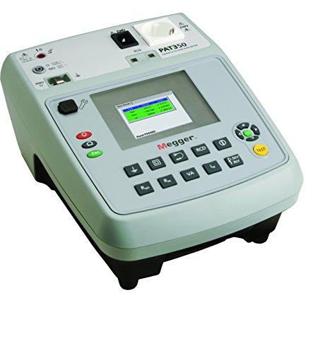 Megger 1000-953 PAT350-EU Gerätetester, Schutzleiterwiderstand mit 200 mA, 10 A und 25 A AC, Isolationsprüfung mit 250V und 500V, Ersatz-Ableitstrom