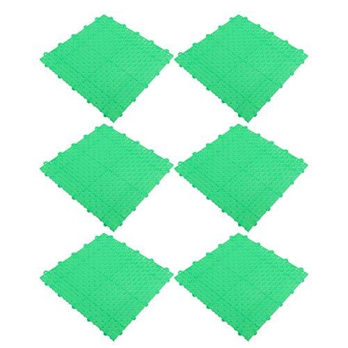 Cabilock 6 Piezas de Esteras de Ejercicio de Puzle Verde Esteras de Gimnasio Entrelazadas Esteras Antideslizantes Esteras de Suelo Baldosas de Plástico para Equipo de Jardín de Infantes