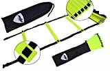 Agility Ladder With 8 Rung & 4.37 Yard Long,Speed Ladder,Soccer Training Equipment,Fitness,Football Ladder, Exercise Ladder, Ideal for Athletic Training, Football Fitness Feet Training with Carry Bag