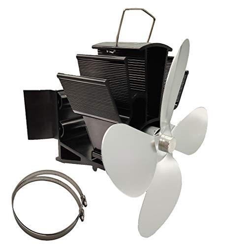 Kaminventilator, 4-flügeliger, Wärmebetriebener Kaminofen Mit Hängendem Kaminventilator, Geräuschlos, Umweltfreundlich Für Holzöfen - Ofenventilator Für Optimale Luftverteilung