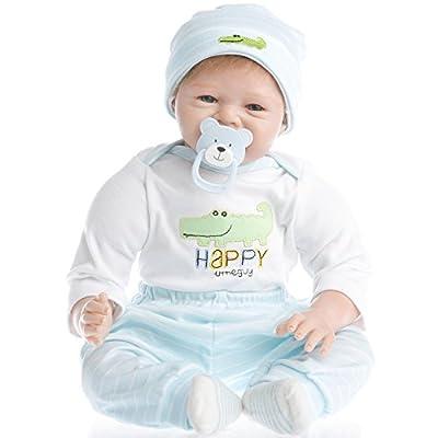 SanyDoll Reborn Baby Doll vinyl 22inch 55cm Lovely Lifelike Cute Baby Birthday