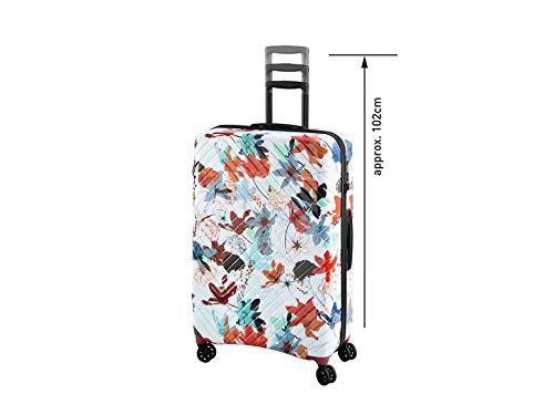 TOPMOVE® Koffer Trolley Reisekoffer Robuste Polycarbonat-Schalen OKOBAN®-ID-Funktion 4 Komfort-Zwillingsrollen (360°) sehr leicht 90l